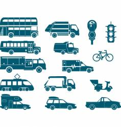 all types of city transport vector image vector image