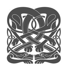 ancient celtic mythological symbol hounds dogs vector image