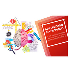 application development create design site vector image
