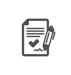 Approved agreement icon sign document symbol vector