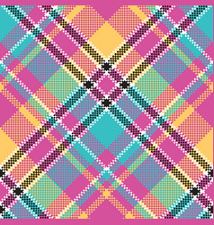 Baby color plaid seamless pattern vector