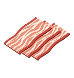 bacon product isolated icon design vector image