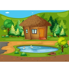 Cabin vector image
