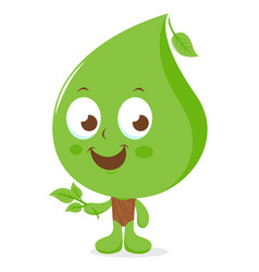 cartoon leaf character vector image