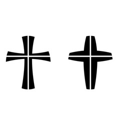catholic cross crucifixion four piece vector image