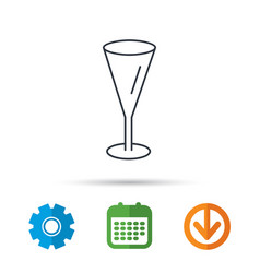 Champagne glass icon goblet sign vector