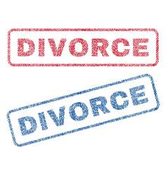 Divorce textile stamps vector