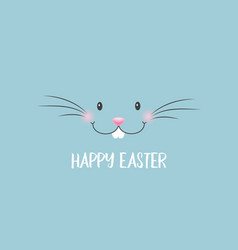easter banner with bunny face vector image