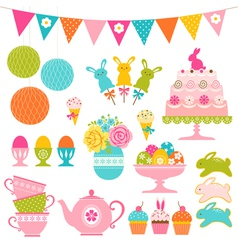 Easter party set vector image vector image