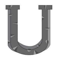 English letter U vector image