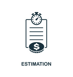 estimation icon symbol creative sign from agile vector image