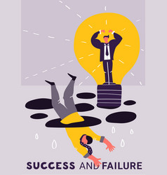 Failure success business poster vector