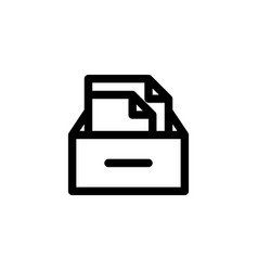 file archive icon with line style vector image