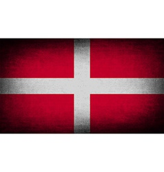 Flag of Military Order Malta with old texture vector image