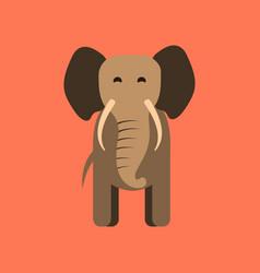 Flat icon stylish background cartoon elephant vector