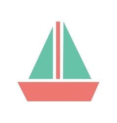 Flat web icon on white background sailing ship vector