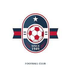 football Badge 8 vector image vector image