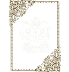 Frame with Indian patterns vector image