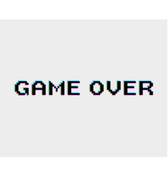 game over icon vector image