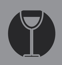 Glass of wine icon symbol vector