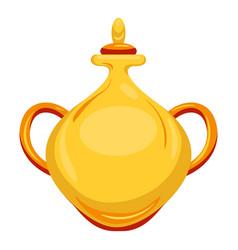 gold arab vase icon cartoon style vector image