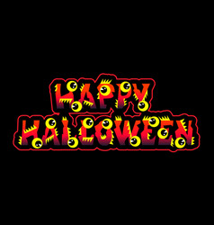 halloween text holiday greeting and lettering with vector image