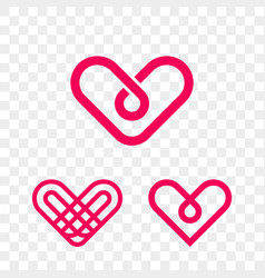 heart logo modern abstract flat web icon vector image