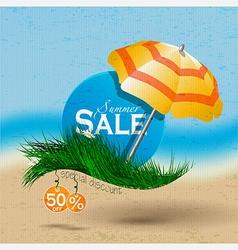 Hello summer banner sale vector