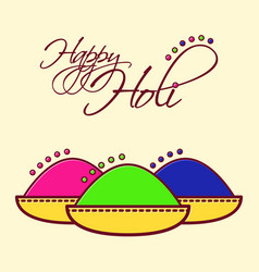 Holi festival of spring and bright colors in india vector