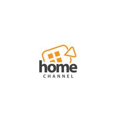 Home chanel logo template design vector