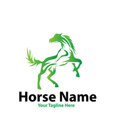 horse power logo designs vector image