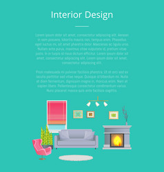 Interior design stylish living room planning vector