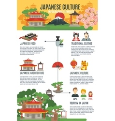 Japanese Culture Infographic Set vector image