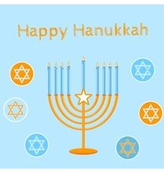 Jewish Holiday Happy Hanukkah card design vector