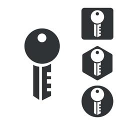 Key icon set monochrome vector image