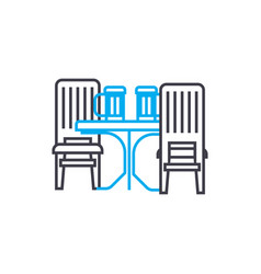 kitchen furniture linear icon concept kitchen vector image
