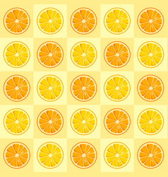 Lemon and orange slices seamless pattern vector