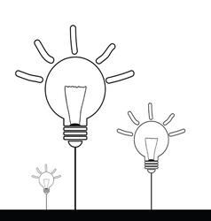 lightbulb cartoon vector image