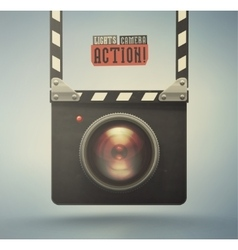 Lights Camera Action vector