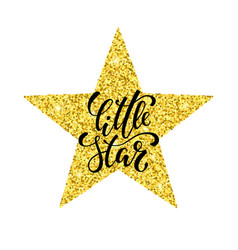 Little star hand drawn creative calligraphy and vector
