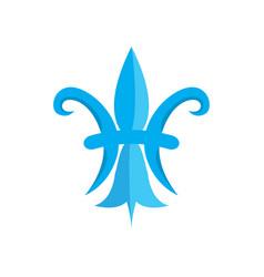 mardi gras symbol fleur de lys vector image