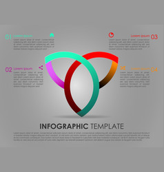 modern colorful infographics with triangle vector image