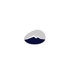 mountain rock logo icon vector image