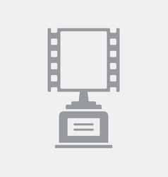 movie award prize icon vector image