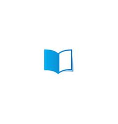 Open book study logo vector