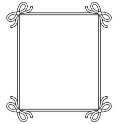 Ornamental frame with vintage decor bows elements vector