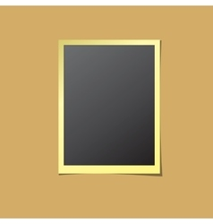 Paper Photo Frame Isolated vector