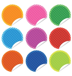 Perforated stickers set vector
