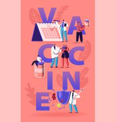 planning vaccine applying concept doctor put vector image