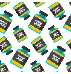 poison bottle seamless pattern vector image